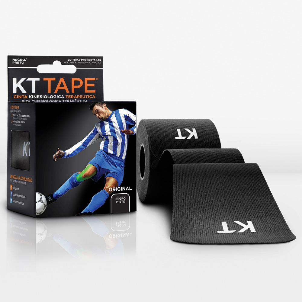 Kt Tape Pre Cortado de Algodón Negro