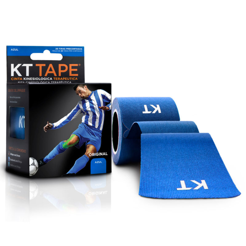 Kt Tape Pre Cortado de Algodón Azul