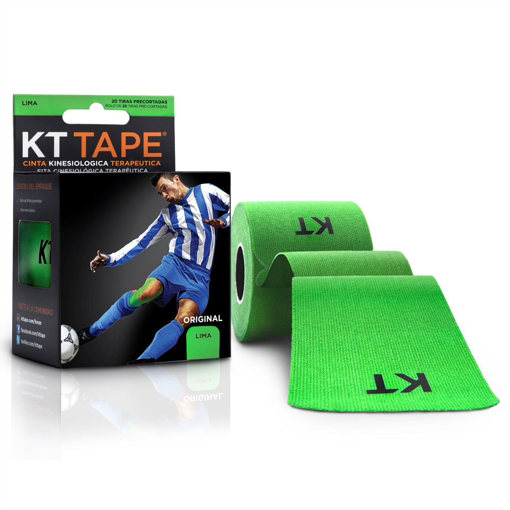 Kt Tape Pre Cortado de Algodón Verde