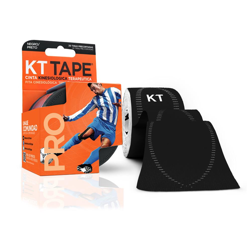 Kt Tape Pre Cortado Pro Sintético Negro