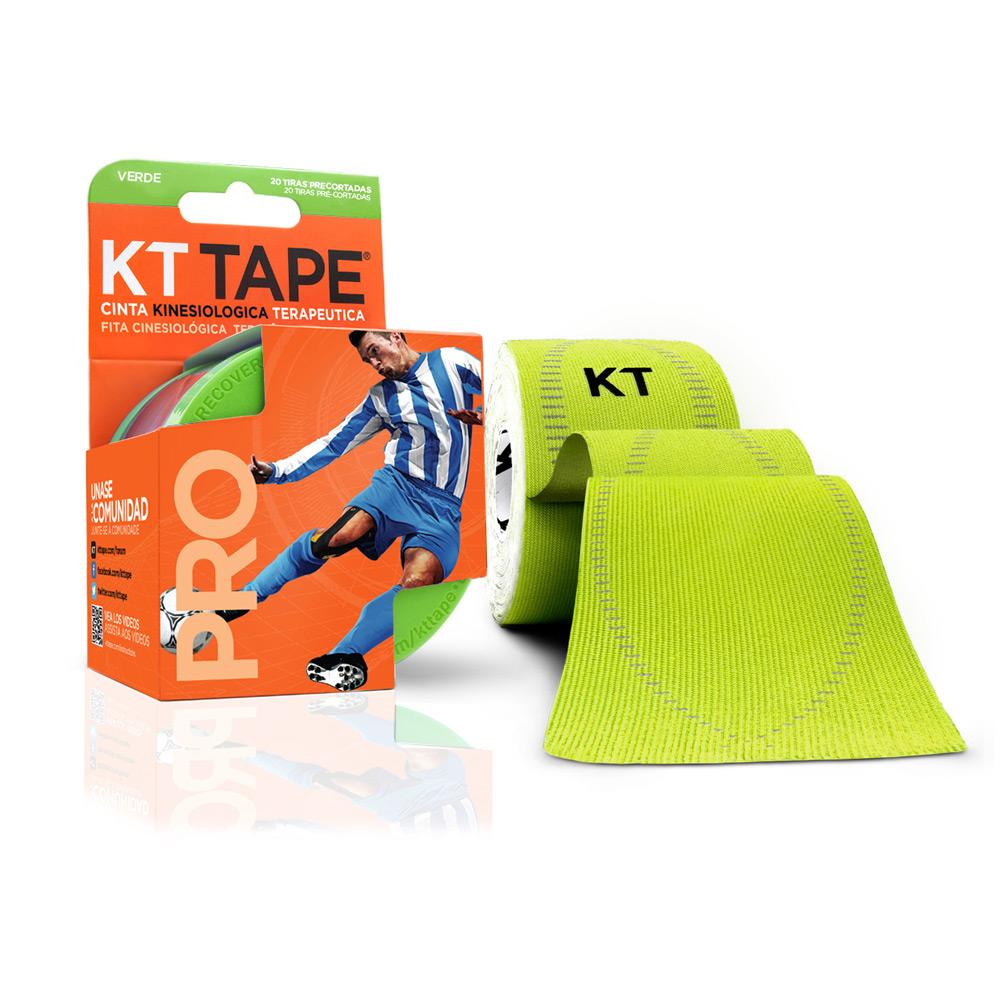 Kt Tape Pre Cortado Pro Sintético Verde