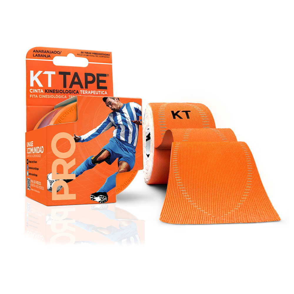 Kt Tape Pre Cortado Pro Sintético Naranja