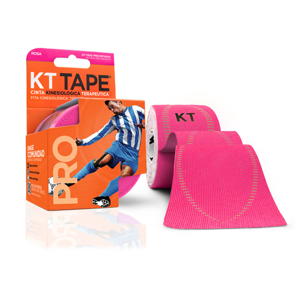 Kt Tape Pre Cortado Pro Sintético Rosa
