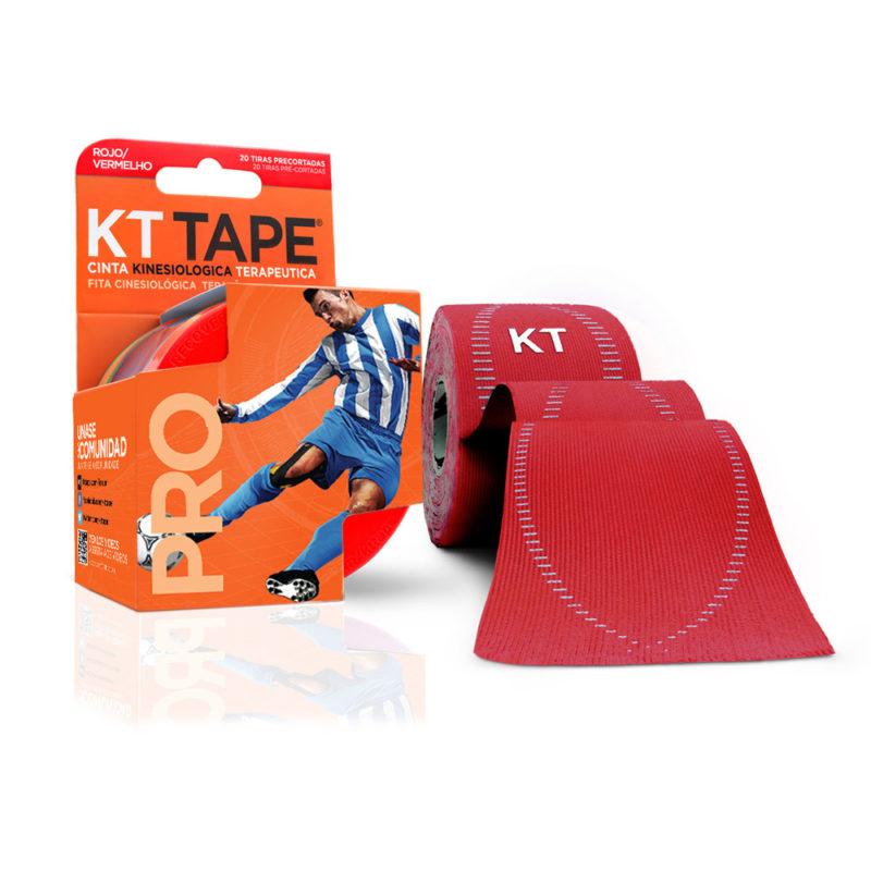 Kt Tape Pre Cortado Pro Sintético Rojo