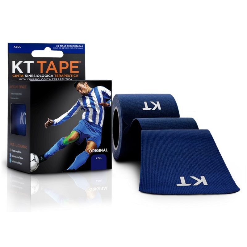 Kt Tape Pre Cortado de Algodón Azul Marino